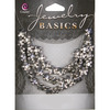 Silver 5 Petal Flower - Jewelry Basics Metal Beads 10mm 40/Pkg COUSIN-Make Jewelry Basics Collection: Metal Beads. These beads can be mixed and matched in countless ways to create fantastic necklaces, bracelets, earrings and matching sets. This package contains forty beads, 8mm in diameter. Design: Petal Flowers. Imported.