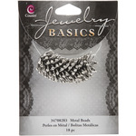Silver Star Cap - Jewelry Basics Metal Beads 18mm 18/Pkg