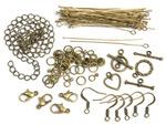 Antique Gold Starter Pack - Jewelry Basics Metal Findings 145/Pkg