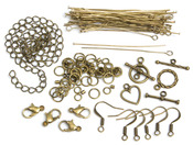 Antique Gold Starter Pack - Jewelry Basics Metal Findings 145/Pkg
