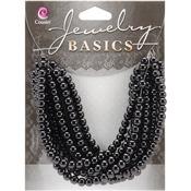 Black Opaque Round - Jewelry Basics Glass Beads 4mm 300/Pkg