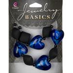 Black - Jewelry Basics Acrylic/Glass Bead Mix 19/Pkg