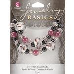 Black and Purple Large Hole - Jewelry Basics Glass Bead Mix 33/Pkg