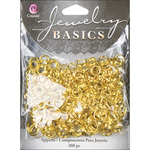 Gold Split Rings 6mm-8mm - Jewelry Basics Metal Findings 300/Pkg