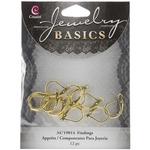 Gold Euro Lever Earrings - Jewelry Basics Metal Findings 12/Pkg
