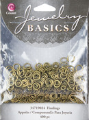 Antique Gold Jump Rings 4mm-6mm - Jewelry Basics Metal Findings 400/Pkg