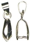 Silver Pinch Bail - Jewelry Basics Metal Findings 9/Pkg