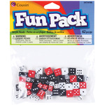 Assorted Colors - Fun Pack Acrylic Dice Beads 8-10mm 62/Pkg