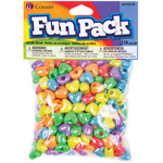 Assorted Colors - Fun Pack Acrylic Heart Beads 210/Pkg