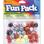 Assorted Balls - Fun Pack Acrylic Sports Beads 1oz