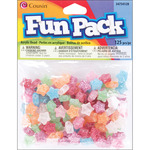 Assorted Glitter - Fun Pack Acrylic Star Beads 125/Pkg