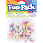 Assorted Glitter - Fun Pack Acrylic Pony Beads 125/Pkg