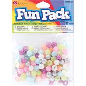 Assorted Glitter - Fun Pack Acrylic Pony Beads 125/Pkg