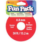 Clear - Fun Pack Stretch Cord Spool .8mm 50'/Pkg