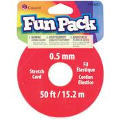 Clear - Fun Pack Stretch Cord Spool .5mm 50'/Pkg