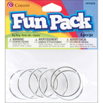Silver - Fun Pack Key Ring 6/Pkg