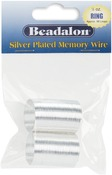 Silver Plated/Approx 99 Loops - Memory Wire Ring .5oz/Pkg