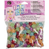 Assorted Colors - Bead Girl Glitter Star Beads 125/Pkg