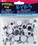 Black - Paste-On Wiggle Eyes Assorted 5-15mm 200/Pkg