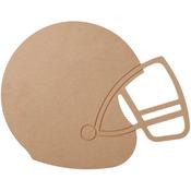 """Football Helmet 9.1""""X11.6"""" - MDF Wood Shape"""