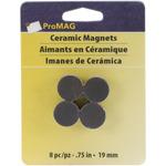 """Round Ceramic Magnets 8/Pkg - .75"""""""