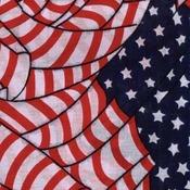 "Hav - A - Hank Americana Bandanna 22""X22""-Tossed American Flag"