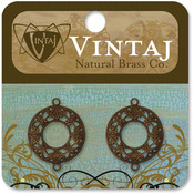 Filigree Ring 17mm - Vintaj Metal Accents 2/Pkg