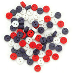 Tiny Patriotic Buttons - Dress It Up Holiday Embellishments