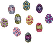 Painted Eggs - Dress It Up Holiday Embellishments