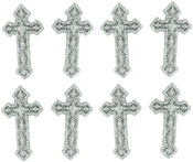 Silver Crosses - Dress It Up Holiday Embellishments