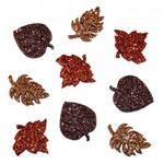 Glitter Autumn Leaves - Dress It Up Holiday Embellishments