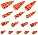 Carrot Noses - Dress It Up Holiday Embellishments