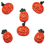 Glitter Pumpkins - Dress It Up Holiday Embellishments