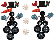 Building A Snowman - Dress It Up Holiday Embellishments
