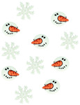 Snowman Faces - Dress It Up Holiday Embellishments