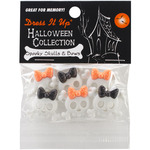 Spooky Skulls & Bows - Dress It Up Holiday Embellishments