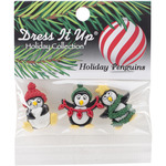 Holiday Penguins - Dress It Up Holiday Embellishments