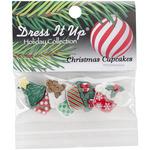 Christmas Cupcakes - Dress It Up Holiday Embellishments