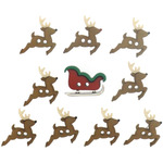 Sew Cute Sleigh & Reindeer - Dress It Up Holiday Embellishments