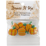 Plaid Pumpkins - Dress It Up Holiday Embellishments