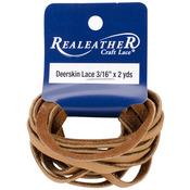 "Saddle Tan - Deerskin Lace 3/16"" Wide 2 Yards"