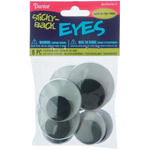 Large Glow In The Dark - Adhesive Wiggle Eyes Assorted 8/Pkg