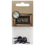".875"" - Black Eye Hooks 6/Pkg"