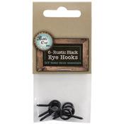 """.875"""" - Black Eye Hooks 6/Pkg"""
