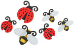 Lady Bugs/Bees - Felties Stickers 18/Pkg