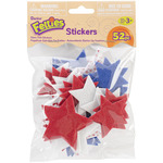 Stars W/Print - Feltie Stickers 52/Pkg