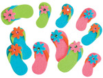 Flip Flops With Gems - Felties Stickers 20/Pkg
