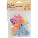 Butterfly And Flowers - Feltie Stickers