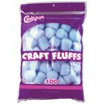 Blue - Craft Fluffs 4oz Bag 100/Pkg