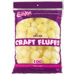 Yellow - Craft Fluffs 4oz Bag 100/Pkg